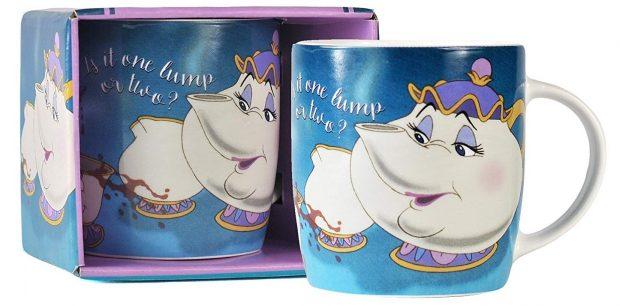 Taza de Chip y la Señora Potts de La Bella y la Bestia