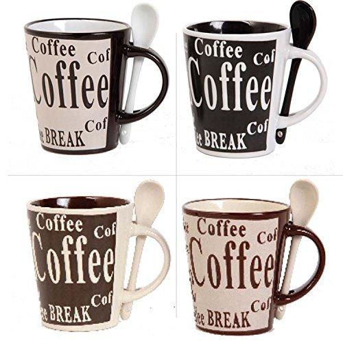 Juego de 4 tazas de café