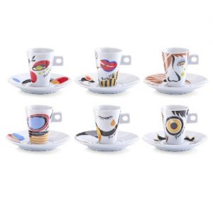 Servicio de café expreso en porcelana