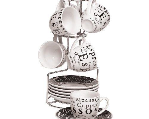 Juego de tazas de espresso con rack