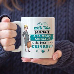 Taza de la trabajadora: Esta taza pertenece a la mejor abogada de todo el universo